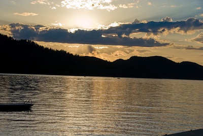 White Bear Lake Montana Sunset